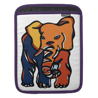 """Elephant Colorful"" Ipad Soft Case Sleeves For iPads"