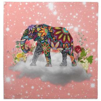 Elephant commands it napkin