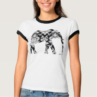 Elephant damask graphic art on tee