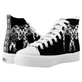 Elephant damask shoe printed shoes