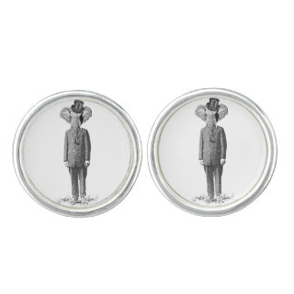 Elephant dandy cuff links