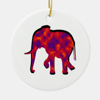 Elephant Daze Ceramic Ornament