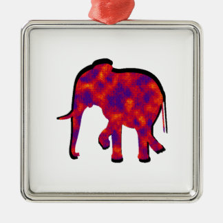 Elephant Daze Metal Ornament