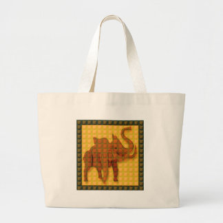 Elephant Decorative Button Art FUNNY GIFTS love al Tote Bags