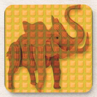 Elephant Decorative Button Art FUNNY GIFTS love al Drink Coaster