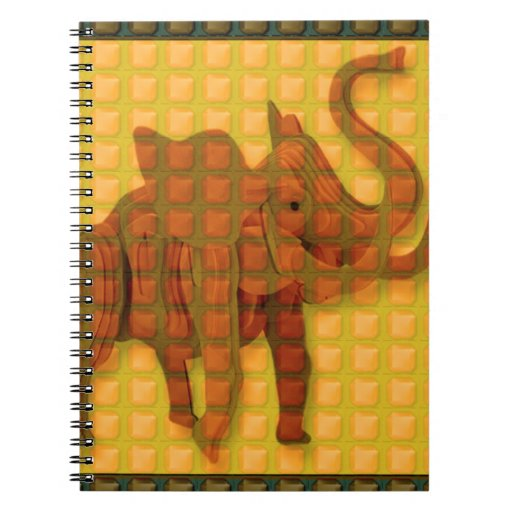 Elephant Decorative Button Art FUNNY GIFTS love al Spiral Notebook
