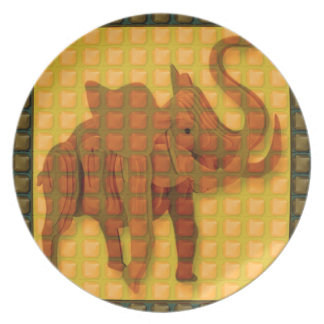 Elephant Decorative Button Art FUNNY GIFTS love al Party Plates