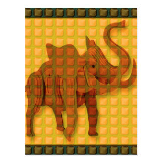 Elephant Decorative Button Art FUNNY GIFTS love al Postcard