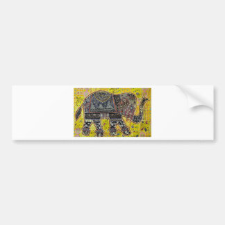 ELEPHANT DESIGN BY INDIAN NOMADIC TRIBE BUMPER STICKER