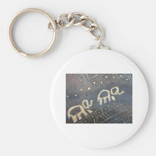 elephant design key chain