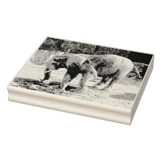 Elephant Design Rubber Stamp