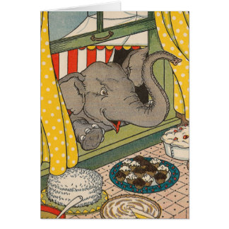 Elephant Desserts Birthday Card