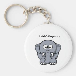 Elephant Didn't Forget Cartoon Keychain
