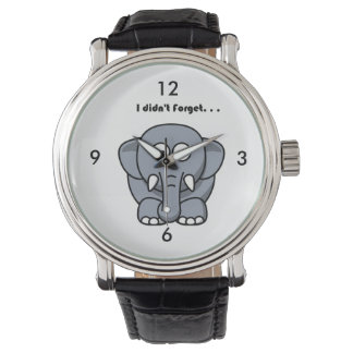 Elephant Didn't Forget Cartoon Watch