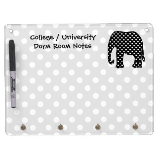 Elephant Dorm Room Notes Dry Erase Board With Key Ring Holder