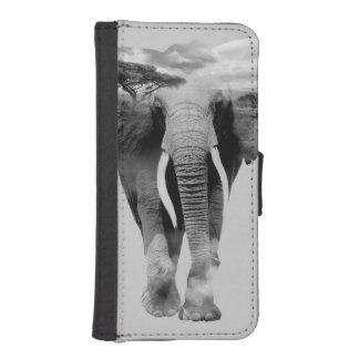 Elephant - double exposure art iPhone SE/5/5s wallet case