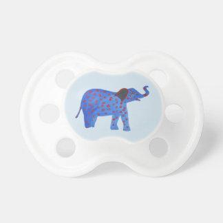 Elephant Drawing. Sweet blue elephant Pacifier