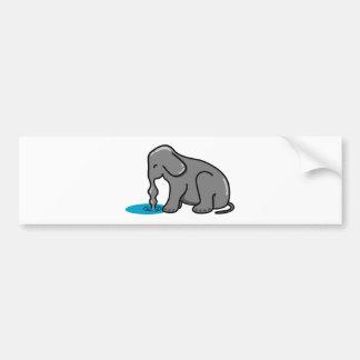 Elephant Drinking (Grey) Bumper Sticker