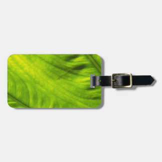 Elephant Ear Taro Luggage Tag