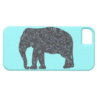 Elephant Elegant Damask Girly Barely There iPhone 5 Case