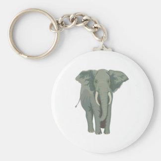 Elephant elephant basic round button key ring