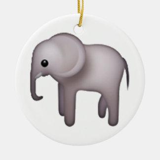 Elephant - Emoji Round Ceramic Decoration