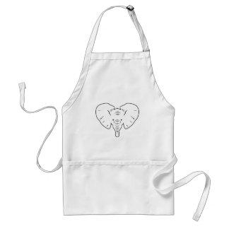 Elephant face silhouette standard apron