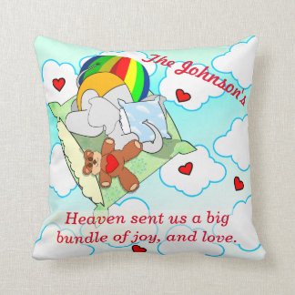 Elephant Falls From Heaven Cushion