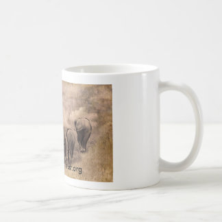 Elephant family art photograph coffee mug