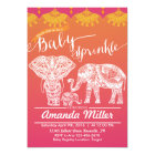 Elephant Family Baby Sprinkle - Indian Inspiration Card