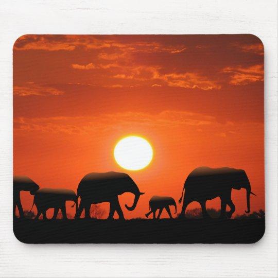 Elephant family mouse pad