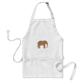 ELEPHANT: Fantasy Artistic Color Shade: lowprice Standard Apron