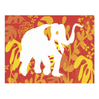 Elephant Floral Safari Jungle Postcard