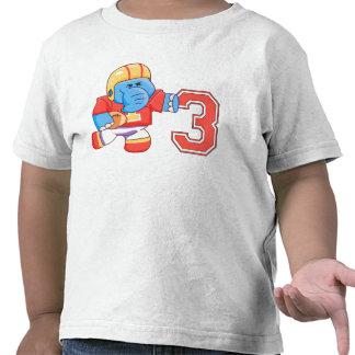 Elephant Football 3rd Birthday T-shirts