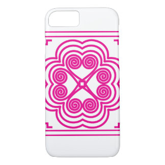 Elephant Footprint Motif in Pink iPhone 8/7 Case