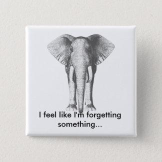 Elephant--Forgetting Something 15 Cm Square Badge