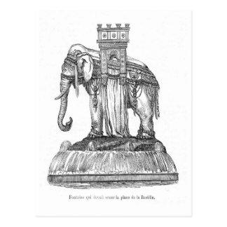 Elephant fountain in Place de la Bastill, Paris Postcard