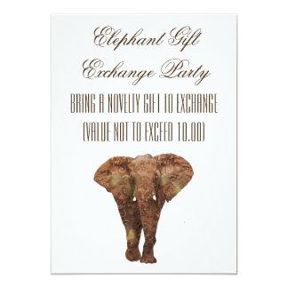 Elephant Gift Exchange Invitations