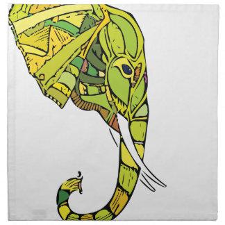 Elephant graphic design napkin