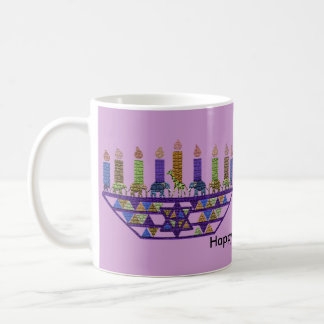 Elephant Hannukah Menorah Coffee Mug