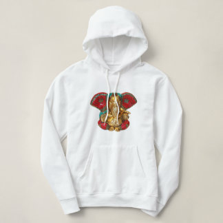 Elephant Head Brass Statue Indian Hindu Temple Art Hoodie