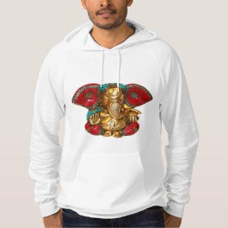 Elephant Head Brass Statue Indian Hindu Temple Art Hoodie