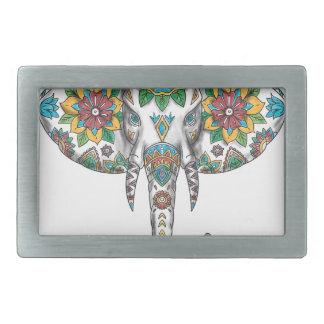 Elephant Head Mandala Tattoo Belt Buckle