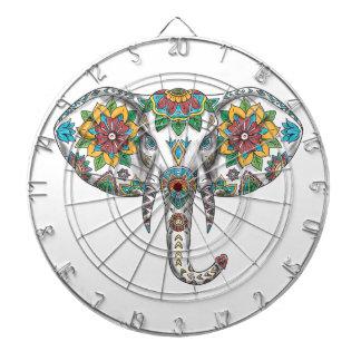 Elephant Head Mandala Tattoo Dartboard