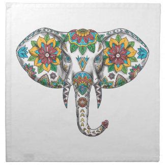 Elephant Head Mandala Tattoo Napkin