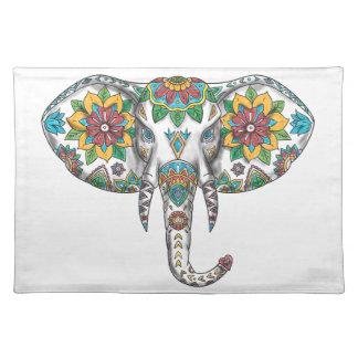 Elephant Head Mandala Tattoo Placemat