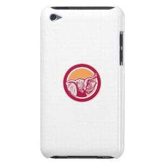 Elephant Head Tusk Circle Retro iPod Touch Covers