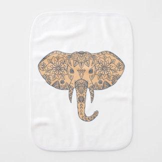 Elephant Head Tusk Mandalaa Burp Cloth