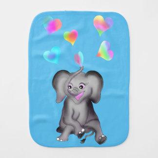 Elephant Hearts by The Happy Juul Company Burp Cloth
