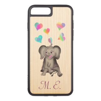Elephant Hearts by The Happy Juul Company Carved iPhone 7 Plus Case